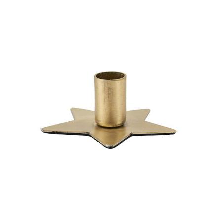 Candle stand Star brass finish 6 cm dia