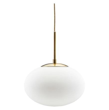 Lamp Opal White d 30 h 35 cm E27 max 40 w 3,0 m cable handmade