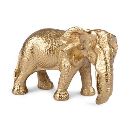 Dekoration Elefant guld