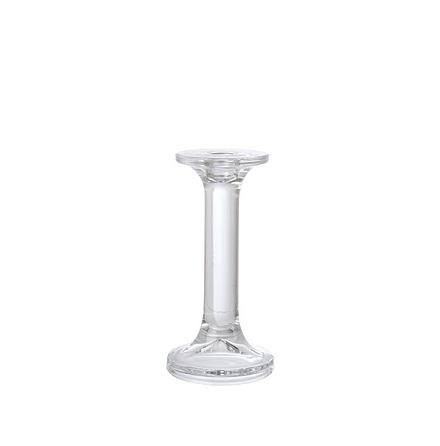 Ljusstake i klarglas för gille o rustikljus