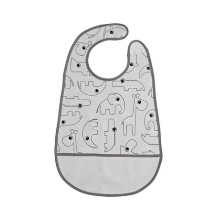 Bib W/Velcro Contour Grey