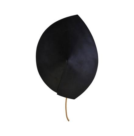 Vägglampa Leaf svart