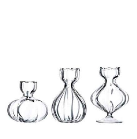 Miniglasvas klar 3x7 cm