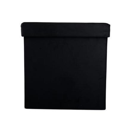 Förvaring sittlåda svart 38x38x38