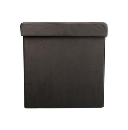 Förvaring sittlåda grå 38x38x38