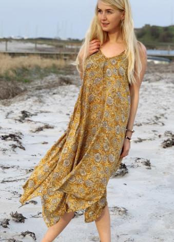 Luna Strap Dress Yellow S/M