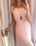 Klänning Plisserad rosa