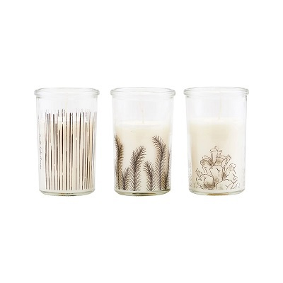 Candle Stroke Pine Branch White ass
