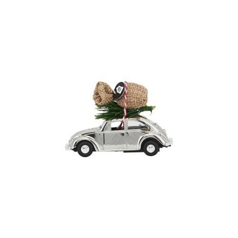 Decoration Mini X-Mas Car chrome