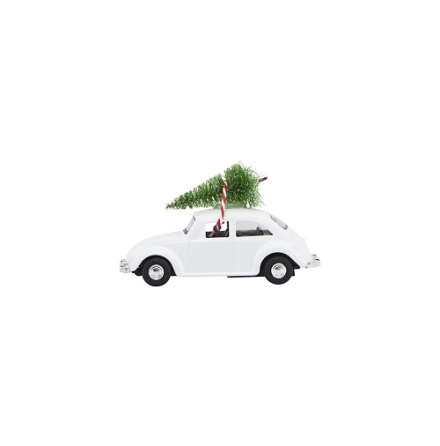 Decoration Mini X-Mas Car white