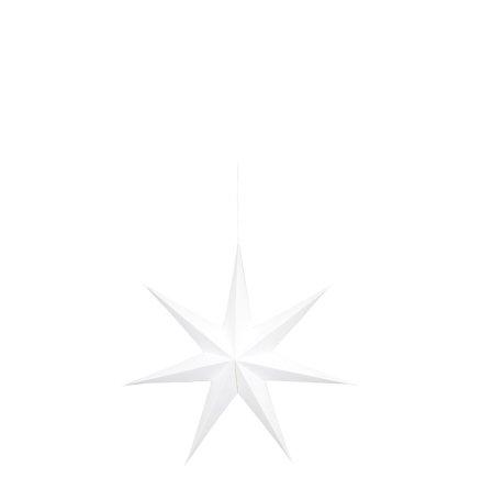 Stjärna papp hängande vit