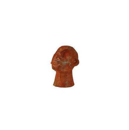 Figur Huvud Cement brun 16x18x23