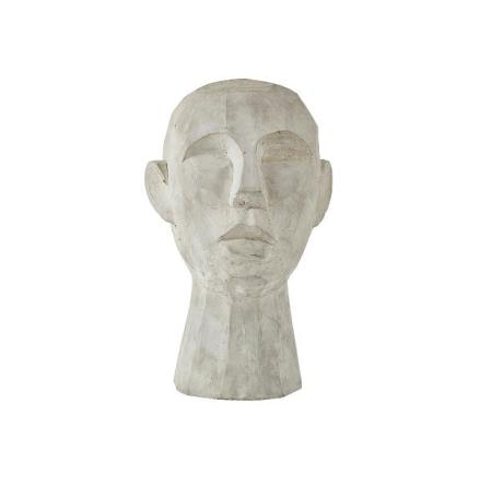 Figur Huvud Grå 18x19x30