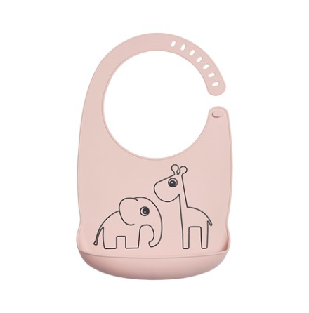 Silicone Bib Deer Friends Powder