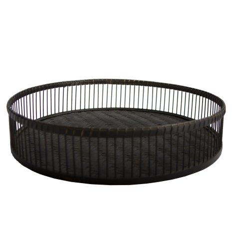 Calamea Tray dia 49xH10 cm black