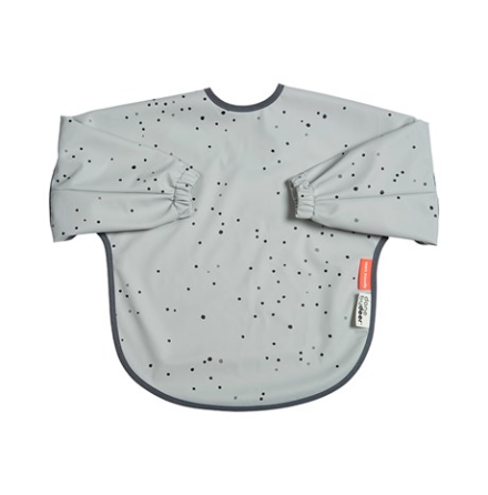 Sleeved Bib +18 mån Dreamy Dots Grey