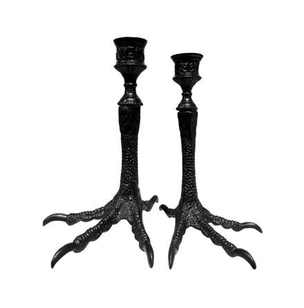 Candleholder Birdsfeet Black Glam large