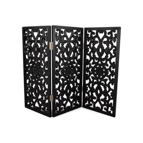 Skärmvägg fönsterskydd svart 61,5x2x45 cm