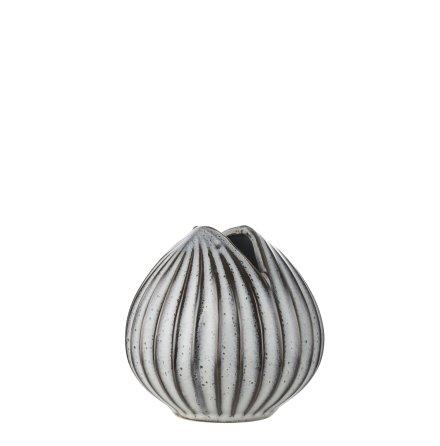 Haiya Vase dia 11x11 grey