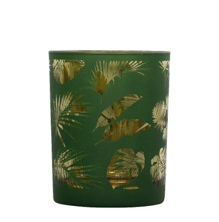 Tealightholder Glass Parrot Black medium