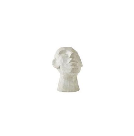 Figur Huvud Cement grå 16x18x23