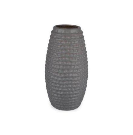 Vas Wave Stor Grå Keramik 18x18x46,5 cm