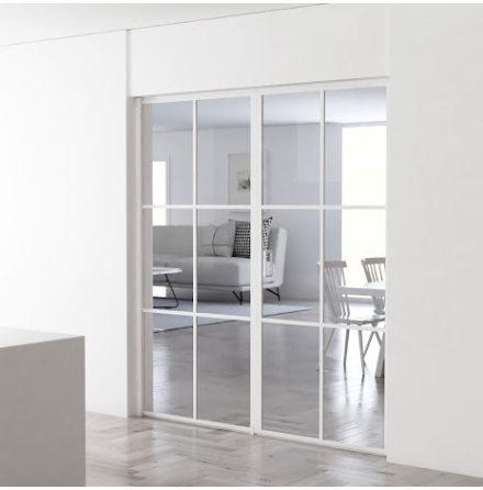 Industrivägg Dörr + vägg vit