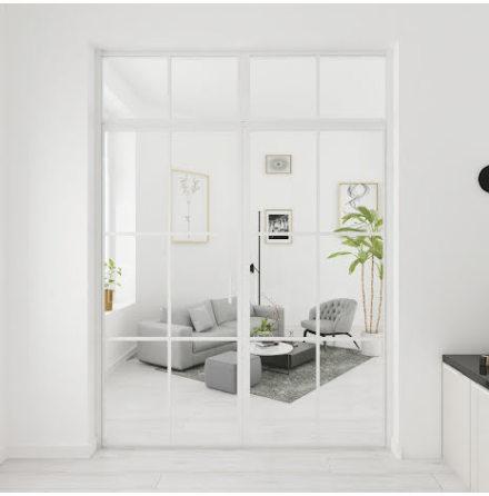 Industrivägg Dörr + vägg + ovanliggare vit