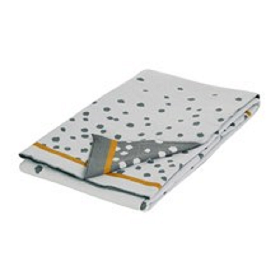 Stickad filt, Happy Dots, grey