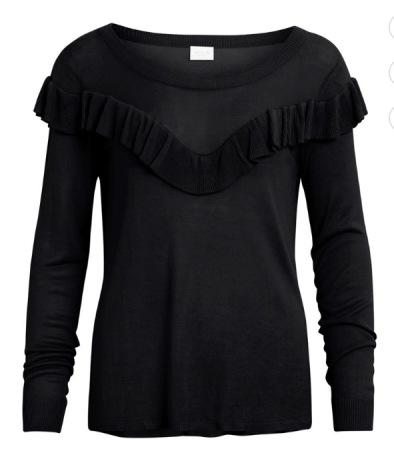 Vitulippa knit rose black
