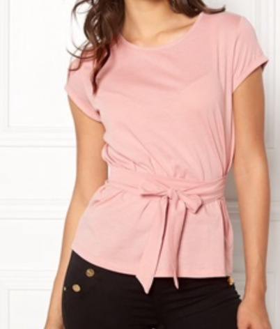Layla t-shirt knyt pink