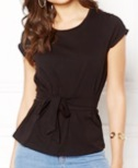 Layla t-shirt knyt black