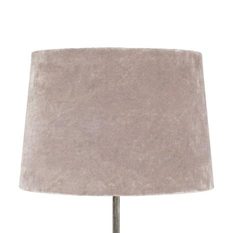 Lampskärm, Sammet Rosa Stor