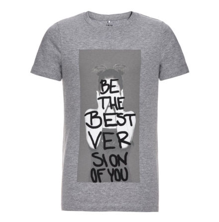 Kortärmad T-shirt, Grå