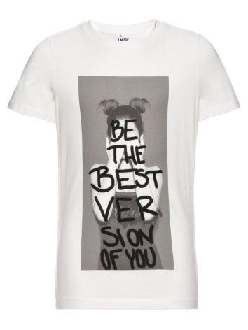 Kortärmad T-shirt, Vit, LMTD