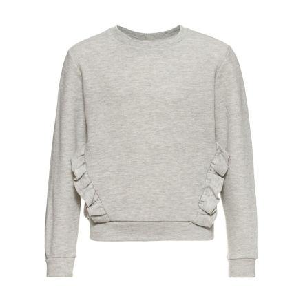 Långärmad Sweatshirt, Grå