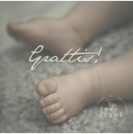 Kort, Grattis Baby, Tove Frank