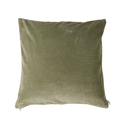 Kuddfodral, Grön, Sammet 50x50 cm