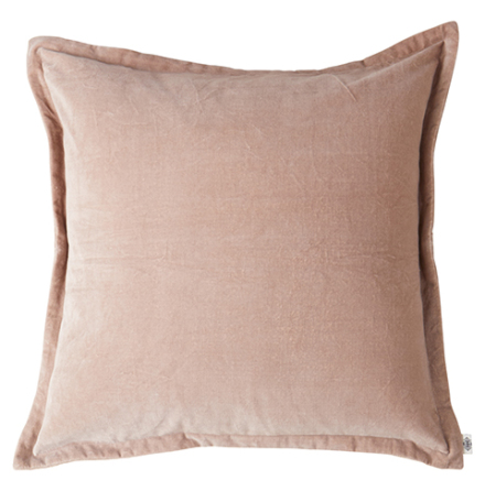 Kuddfodral, Ljusrosa, Sammet 60x60 cm