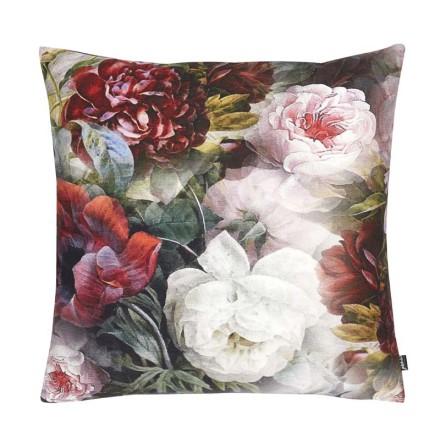 Kuddfodral , polyestersammet,  Blommor 60x60 cm