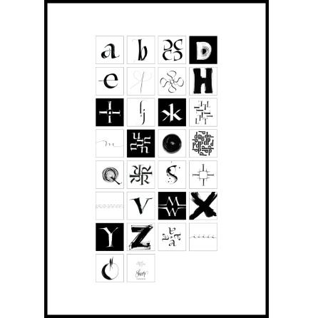 Print, Alfabet 50x70 cm