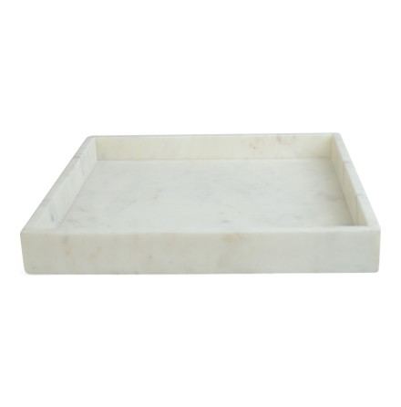 Bricka, Vit Marmor