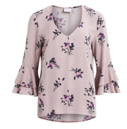Vizoella 3/4 sleeve top Adobe rose