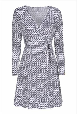 Wrap dress White/Blue