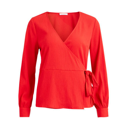 Vitaja wrap top Racing red