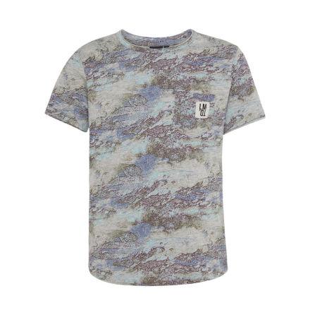 Kortärmad T-shirt, Gråmönstrad