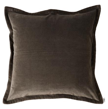 Kuddfodral, Sammet, Mörkgrå 60x60 cm