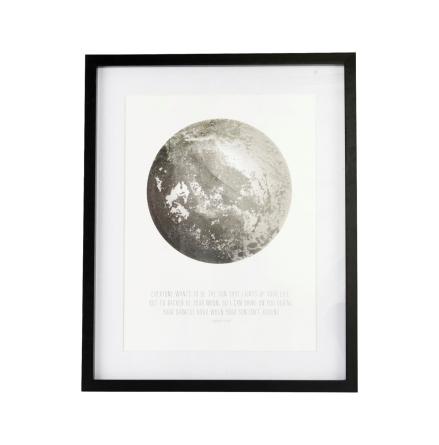 Illustration med Ram, Måne 43x53 cm, House Doctor