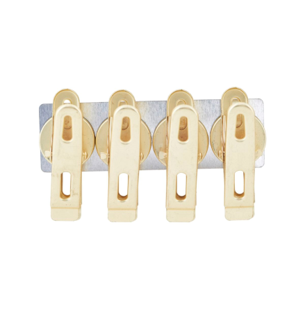 Clips med Magnet 4-pack, Mässing, House Doctor
