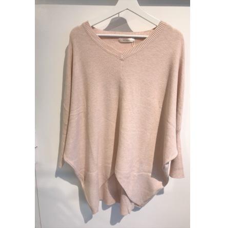 Stickad tröja Rosa One size